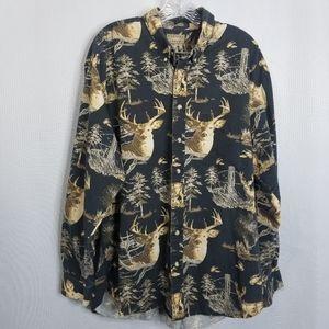 Natural Issue Button Down Shirt Deer Size XLT